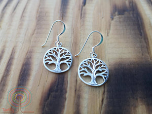 Tree of life mix roots - sterling silver earrings jewelry Tantilly