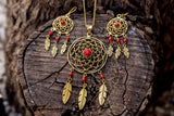 Dreamcatcher set earrings & necklace jewelry Tantilly
