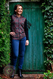 Deventer Cardigan - Bordeaux Round Flowers cardigan Tantilly