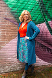 Reversible cotton circle skirt- blue mandala and nana green Reversible skirt Tantilly