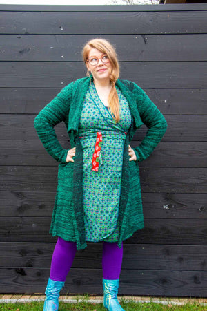 New long cardigan - green - made by Tantilly cardigan Tantilly
