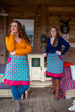 New!!! Poppy reversible cotton skirt made by Tantilly- new print Reversible skirt Tantilly