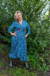 Royal maxi dress made by Tantilly - dark blue paisley Every day dress Tantilly