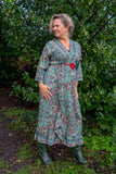 Royal maxi dress made by Tantilly - bright paisley flower Every day dress Tantilly