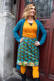 New!!! Poppy reversible cotton skirt made by Tantilly- galaxy Norma brown Reversible skirt Tantilly