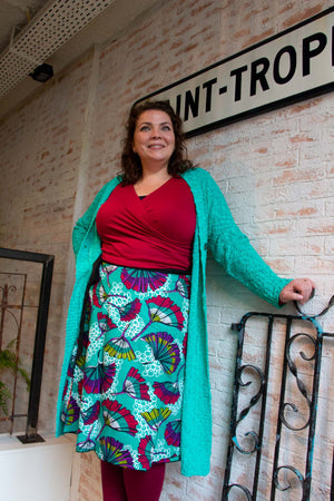 New warm winter cardigan -Noa nova - mint green - made by Tantilly Winter / Najaar cardigan Tantilly