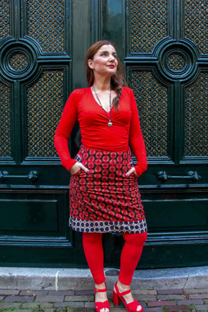 New!!! Poppy reversible cotton skirt made by Tantilly- betty dots Reversible skirt Tantilly