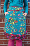 New!!! Poppy reversible cotton skirt made by Tantilly- pacific garden Reversible skirt Tantilly