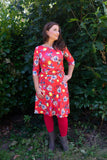 Sophia dress - red poppy garden Every day dress Tantilly