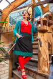 New!!! Poppy reversible cotton skirt made by Tantilly- alamandra black Reversible skirt Tantilly