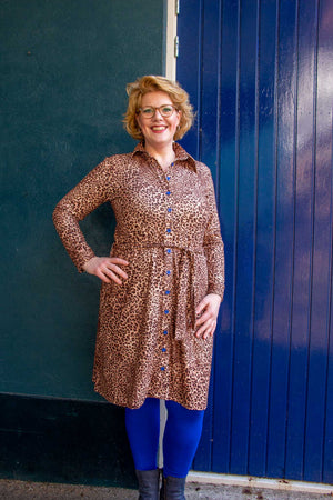 New lilou dress - monro leopard- made by Tantilly Every day dress Tantilly