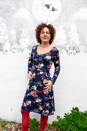 Karen winter dress -pip bloemen- made by Tantilly winter dresses tantilly
