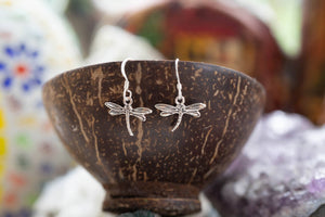 Freedom dragon fly- sterling silver earrings jewelry Tantilly