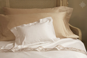 Essentials Sateen Pillow Sham with Santa Barbara Embroidery