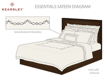 Essentials Sateen Duvet Cover with Santa Barbara Embroidery