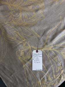 Gold Tapestry Bouquet on Sand silk linen weave 20 Yards Bolt 37