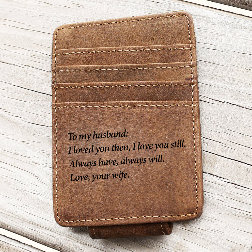 Custom Saying Minimalist Wallet
