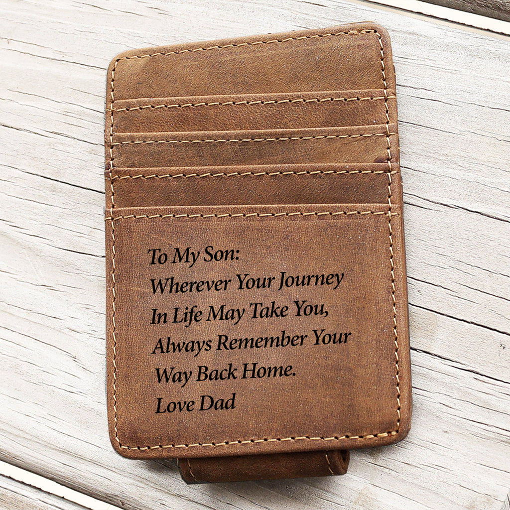 To My Son From Dad Minimalist Wallet