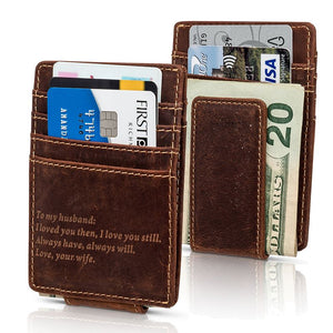 To My Husband Minimalist Wallet