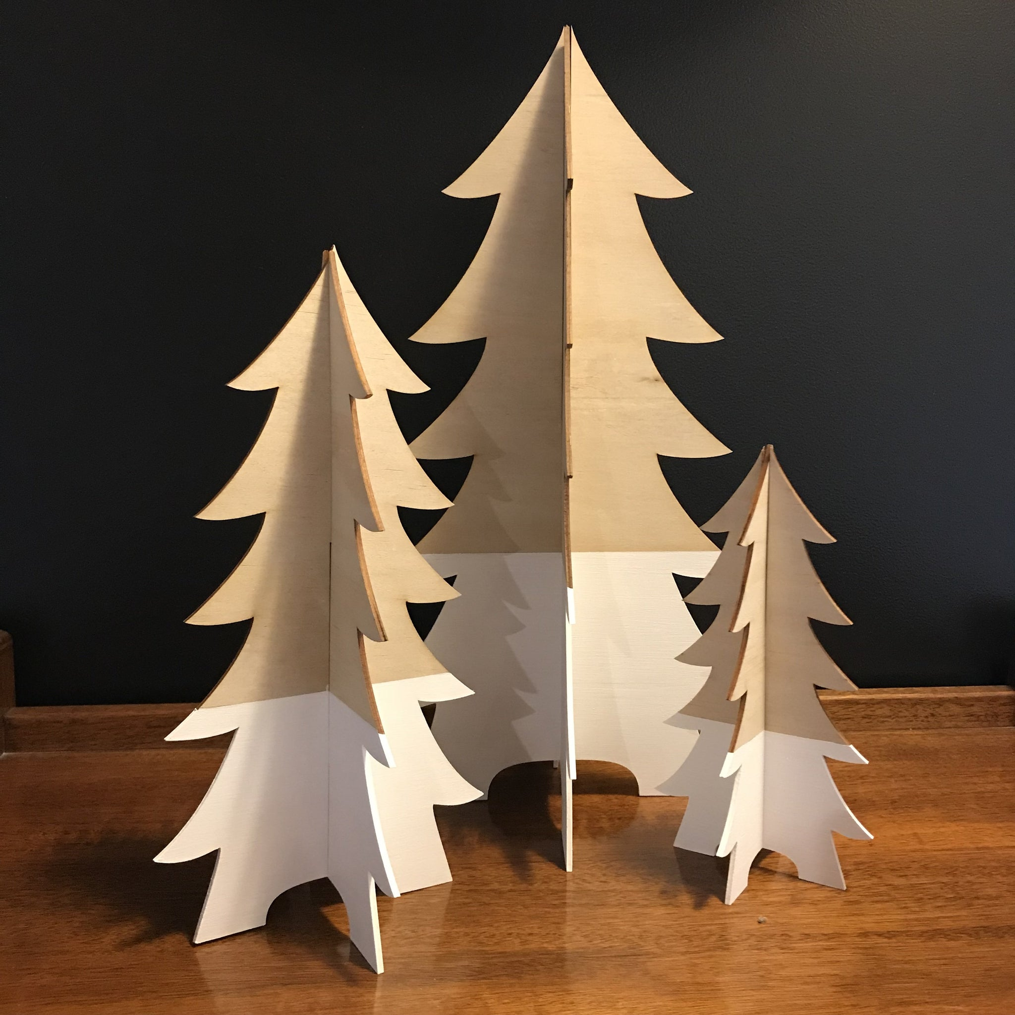 Wooden Christmas Trees.3d Wooden Tree Large
