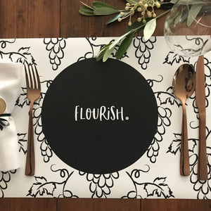Paper Placemats - Flourish