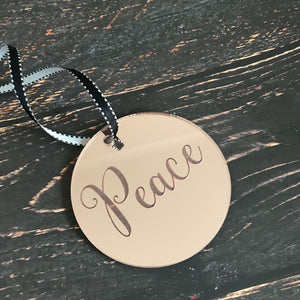 Christmas Disk Rose Gold- Peace