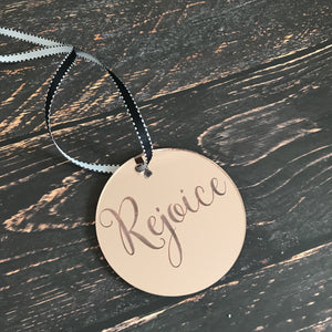 Christmas Disk Rose Gold - Rejoice