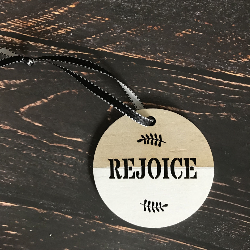 Christmas Disk Timber - Rejoice