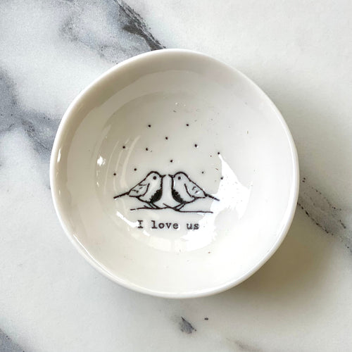 Ceramic dish - I love us