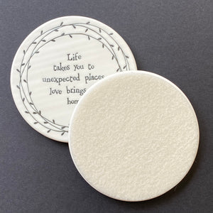 Coaster - porcelain (round - 3 versions)