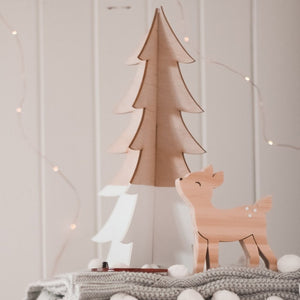 3D Wooden Tree - small