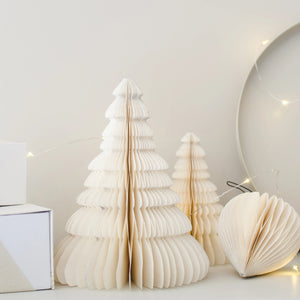 Paper Christmas Tree - Standing with silver edges