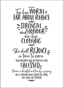 Tea Towel - Proverbs 31