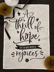 Tea Towel - A Thrill Of Hope