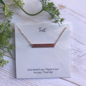 Trust Bar Necklace