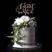 How Sweet the Sound Cake Topper