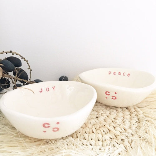 Little Bowl Set of Two - Joy and Peace