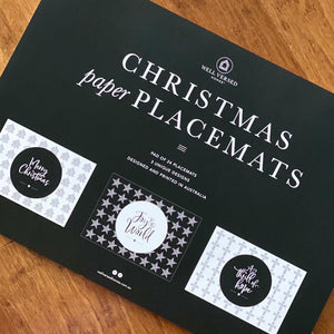 Paper Placemats - Christmas