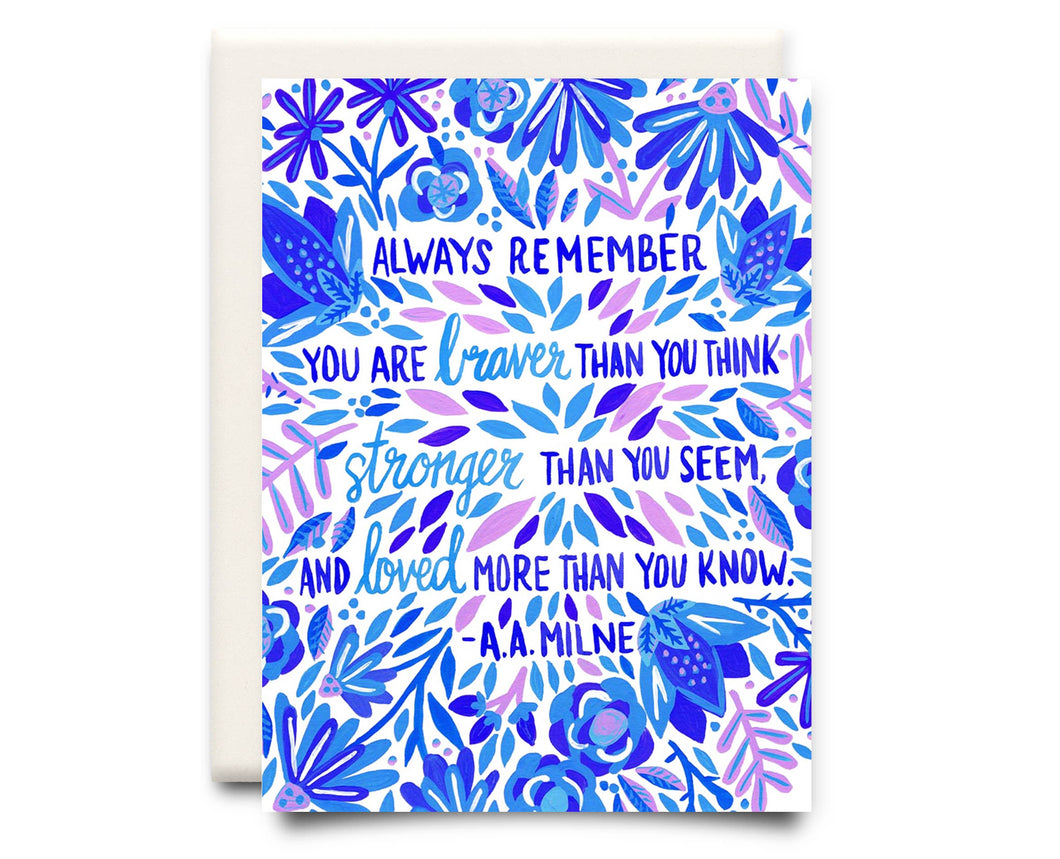 Braver than You Think | Encouragement Greeting Card