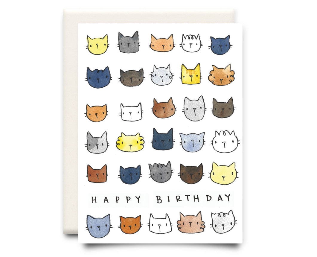 Happy Birthday Cats | Birthday Greeting Card