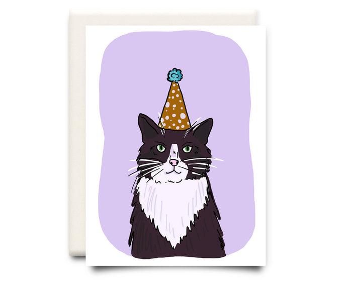 Cat in a Hat | Birthday Greeting Card