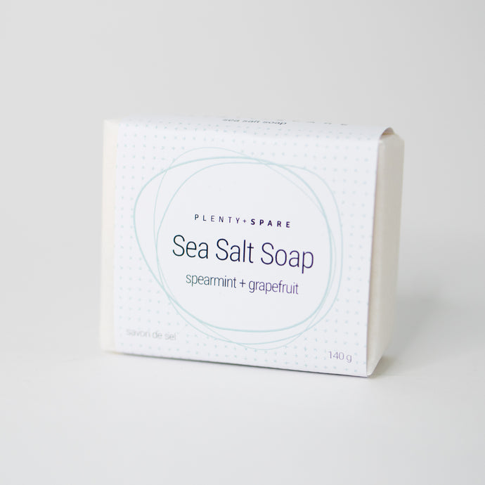 Spearmint + Grapefruit Sea Salt Soap