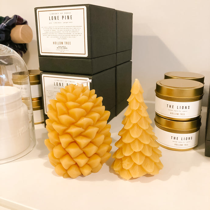 Holiday Beeswax Candles