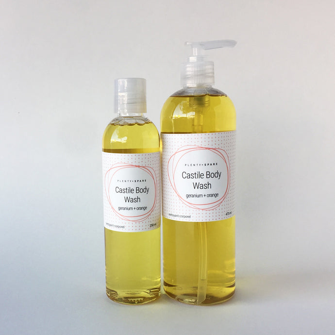 Geranium + Orange Castile Body Wash