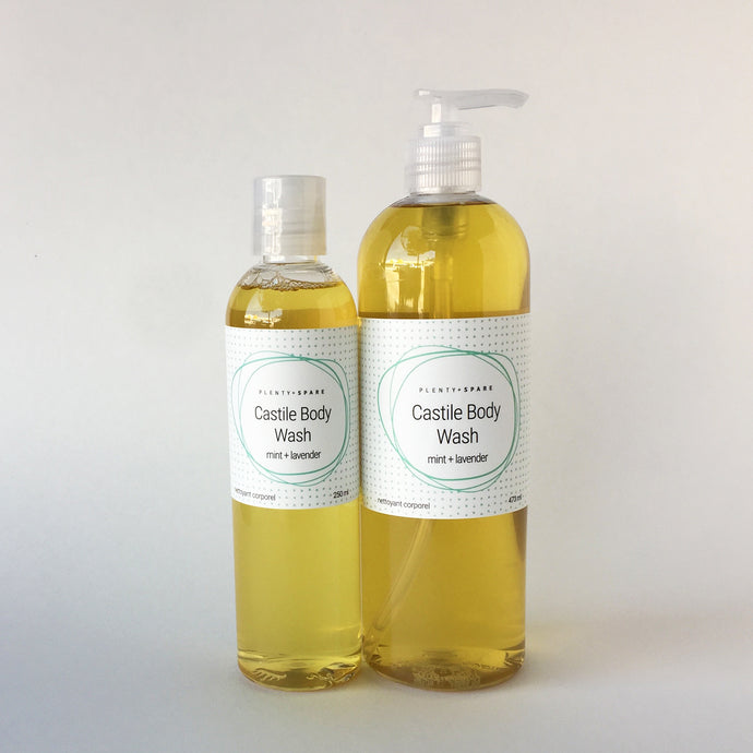 Lavender + Spearmint Castile Body Wash