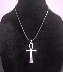 Silver Ankh Pendant Necklace - Large Egyptian Spiritual Symbol