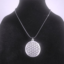 Silver Flower of Life Pendant Necklace - Sacred Geometry Jewelry