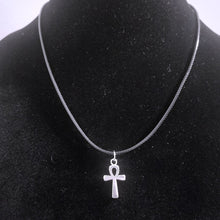 Small Silver Ankh Pendant Necklace - Egyptian Spiritual Symbol