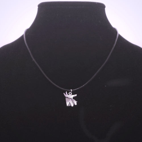 Anubis Necklace - Egyptian God - Silver Pendant