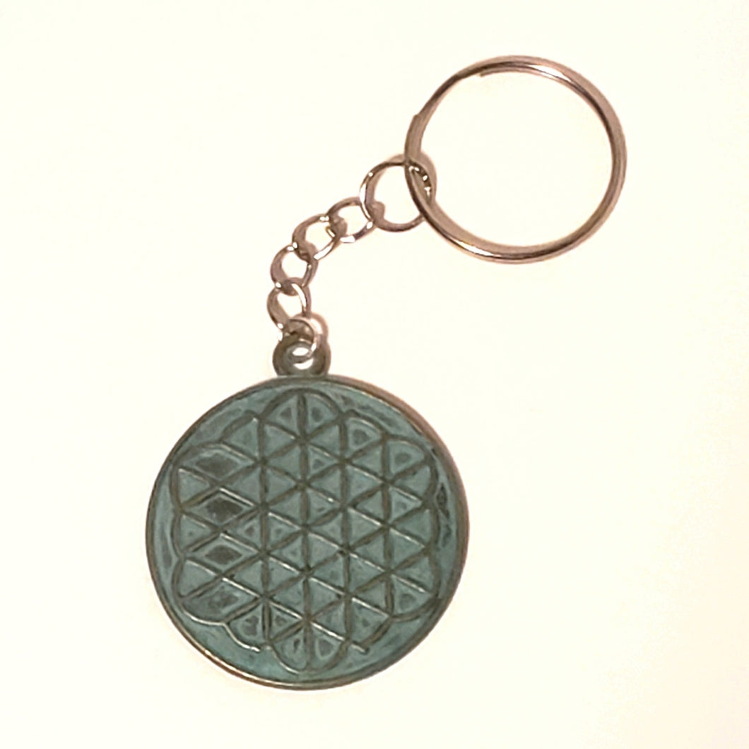 Flower of Life Keychain  - Ancient Coin